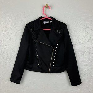 D-Signed Disney Size XS Black Moto Jacket
